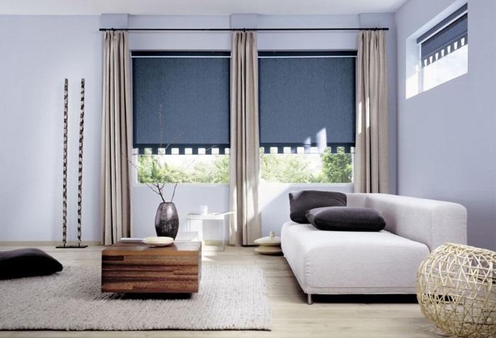 Стильные шторы в зал фото